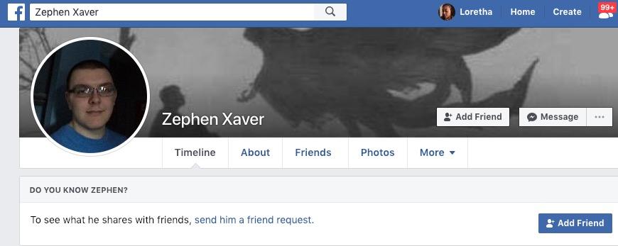 Zephen Xaver Facebook