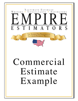 Xactimate Estimate Commercial Sample