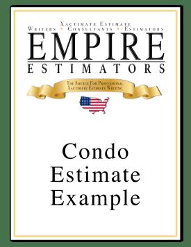 Xactimate Estimate Condo Sample