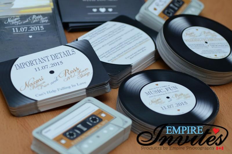 Custom Vinyl Record Wedding Invitations Canada Empire Invites