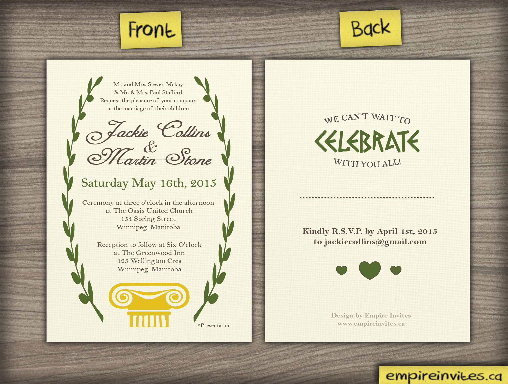 Custom Invitations Online Canada
