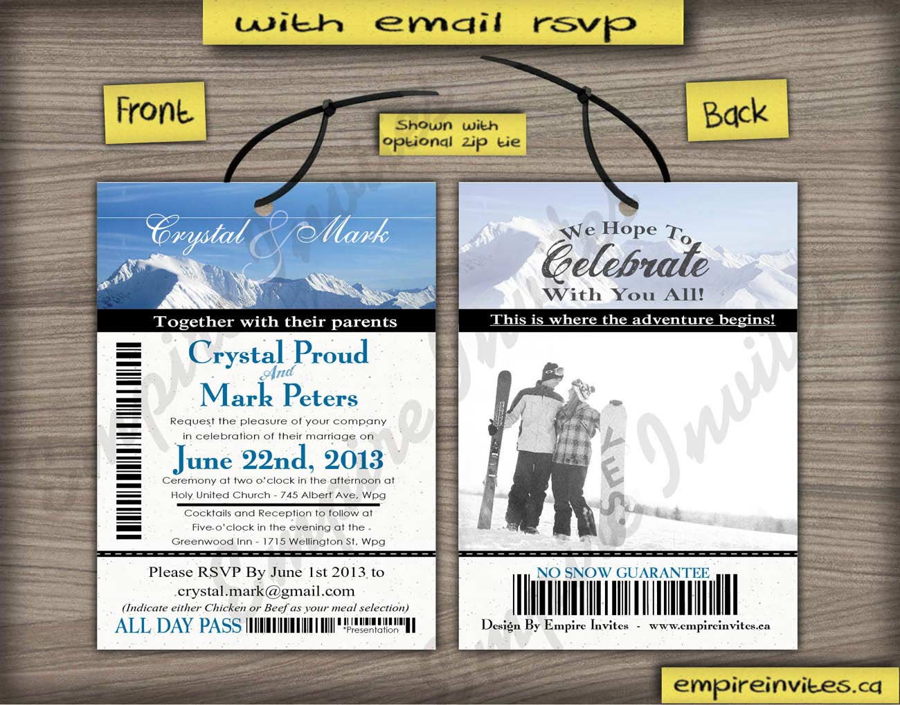 Custom Invitations Winnipeg