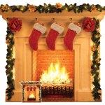 Weihnachten Kamin Pappaufsteller 121x101