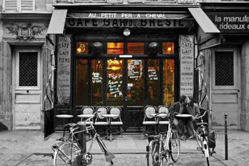 Paris Cafe Bar Du Bresil Poster 915x61