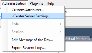 vcenter settings