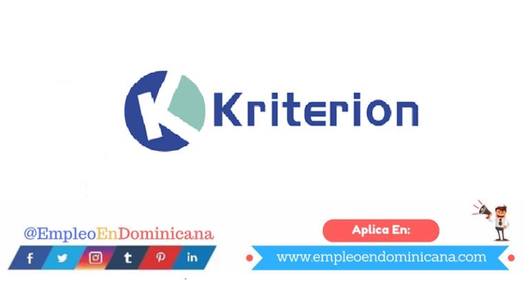 vacantes de empleos disponibles en Kriterion aplica ahora a la vacante de empleo en República Dominicana
