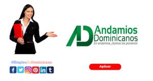 vacante de empleo en Andamios Dominicanos