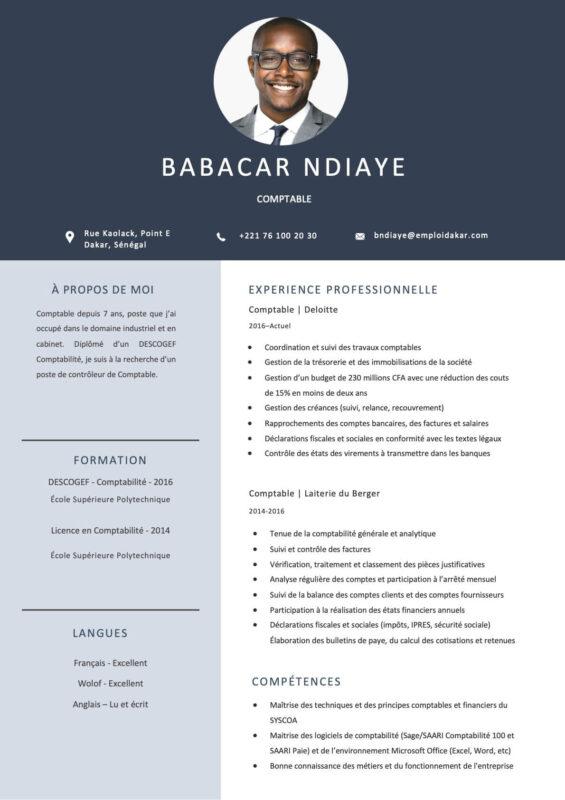 Exemple de CV Comptable
