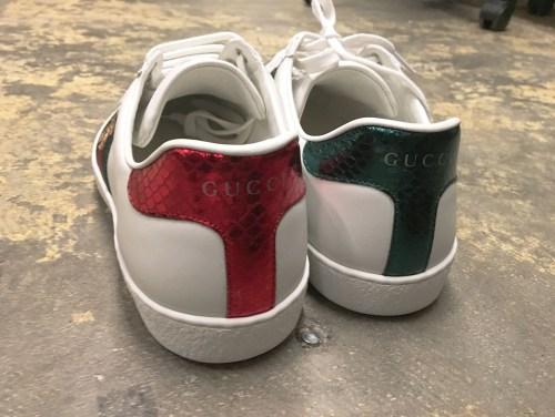 Gucci Ace Bee Sneaker Review Heels