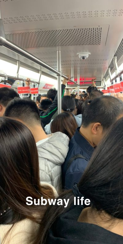 China subway life