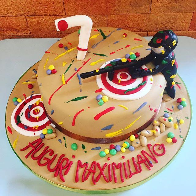 Paintball's cake#handmadewithlove️ #emporiostore #emporiobrand #lab  #cake #cakedesign #pasticceria #ladispoli