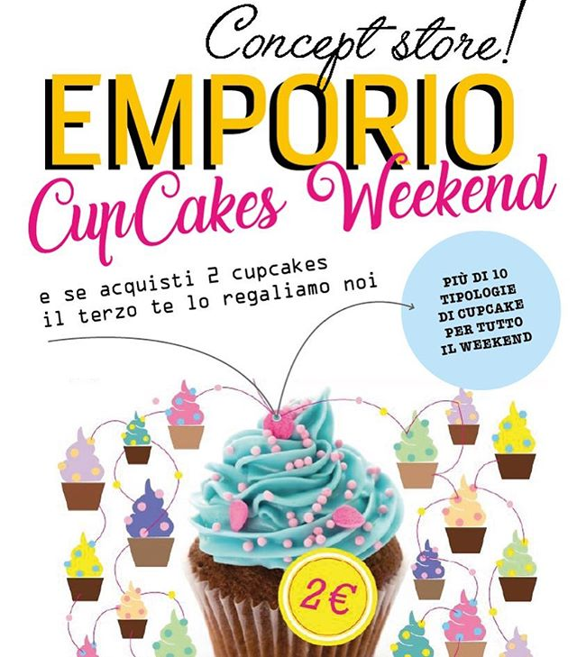 I Nostri Cupcake️️sono davvero irresistibiliDa domani...Torna il CUPCAKE WEEKENDPiù di 10 favolosi gustiOgni due il terzo è in omaggioVieni a trovarci in store da domani a domenica#emporioconceptstore #drinkdresslive #food #eat #sweet #cake #cupcake #weekend #pasticceria #ladispoli #handmadewitlove