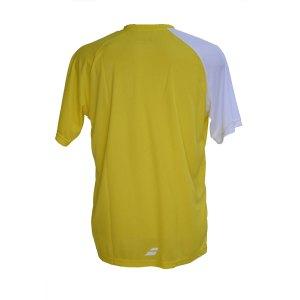 Camiseta Babolat Performance Amarela e Branca
