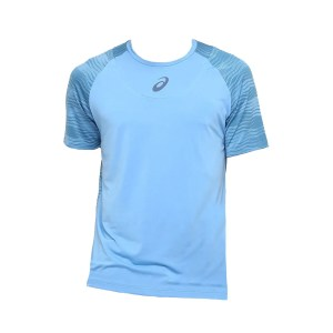 Camiseta Asics Tennis Challenger Print Masculina Azul Claro