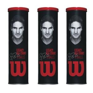 Bola de Tênis Wilson RF Legacy Pack com 3 tubos