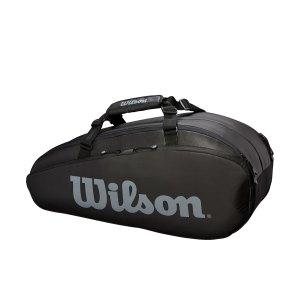 Raqueteira Wilson Tour X6 Preta e Cinza