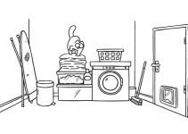 Un gatto a caccia nella lavanderia di casa: cosa succederà?