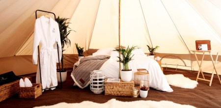 Glamping Experience with the Luxury Duo, Waldorf Astoria and Aston Martin