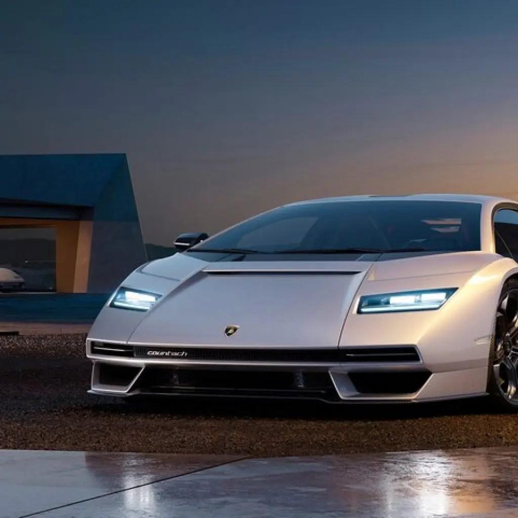 Lamborghini Countach LPI 800-4-Nostalgic Modern Hybrid Car