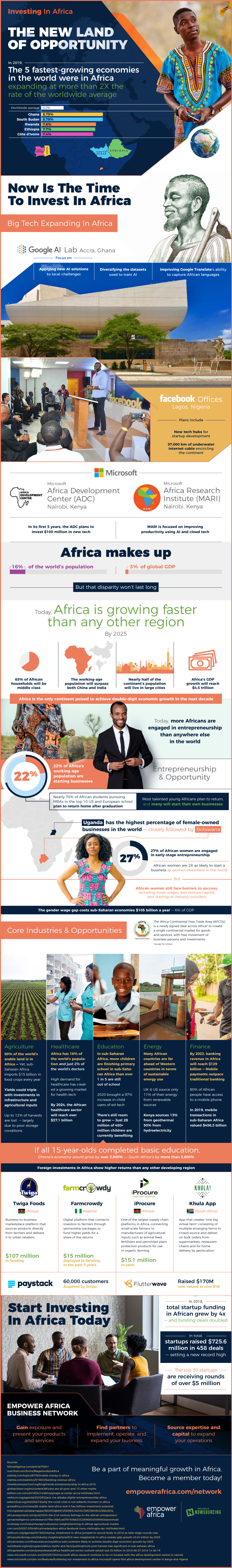 Investing In Africa Infographic