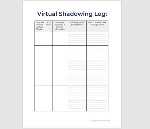 Virtual Shadowing Log 3