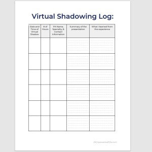 Virtual Shadowing Log 3