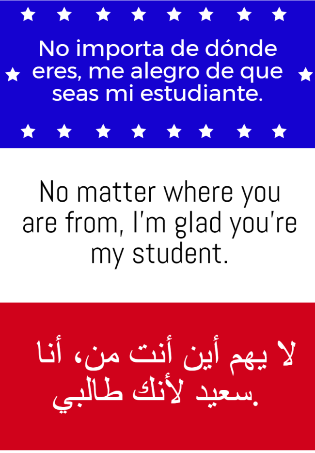 Inclusive classroom sign