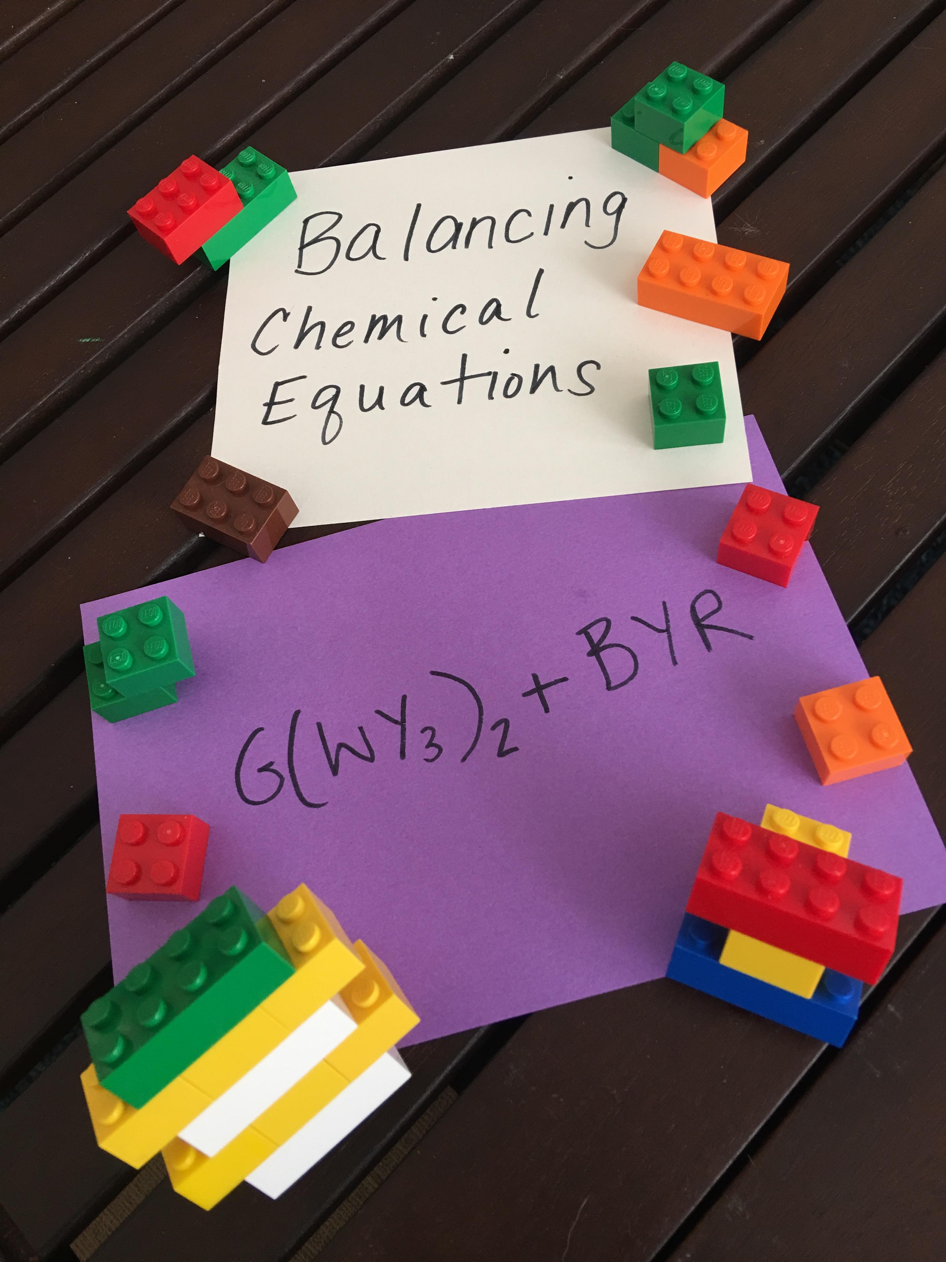 Balancing Chemical Equations With Lego Bricks