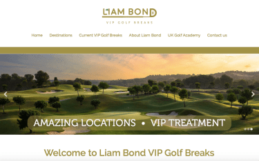 Liam Bon VIP golf break website redesign