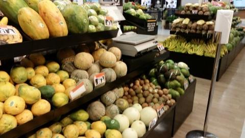 ショッピングセンターの果物