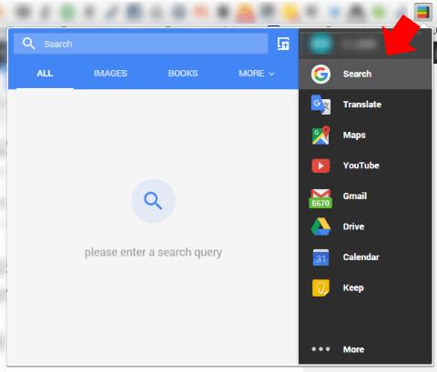 Black Menu for Googleをアイコンから起動する