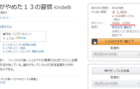 Amazonでの購入額と還元ポイント