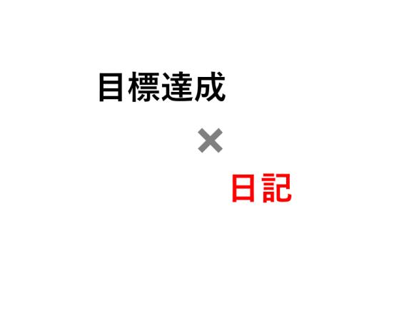 目標達成×日記