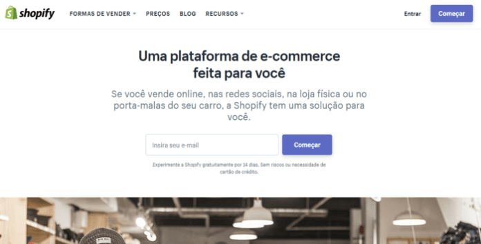 modelos de lojas virtuais plataforma shopify