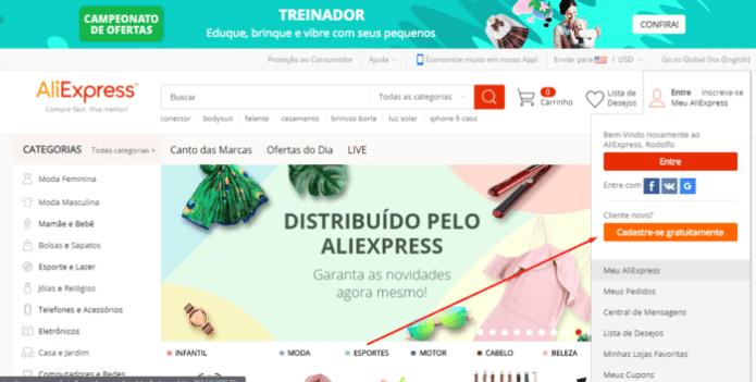 sites de compras internacionais que entregam no brasil