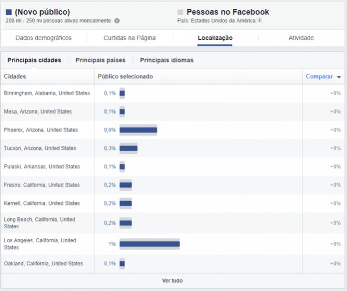perfil do público audience insights
