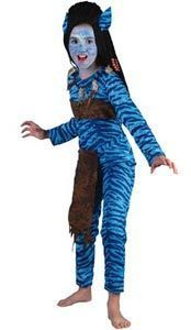 Disfraz guerrera Avatar niña