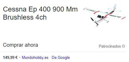 Anuncio Google Shooping