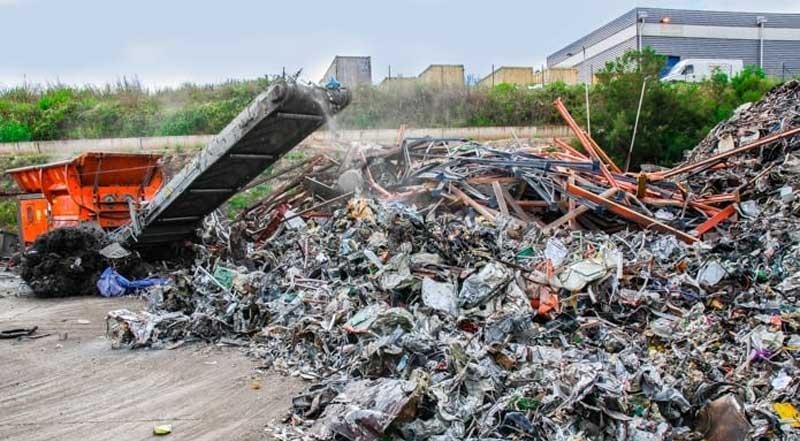 Maquinaria industrial para reciclaje