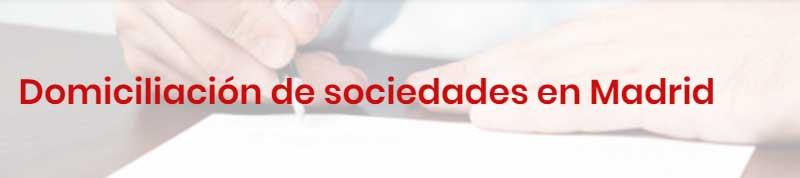 Domiciliación sociedades Madrid
