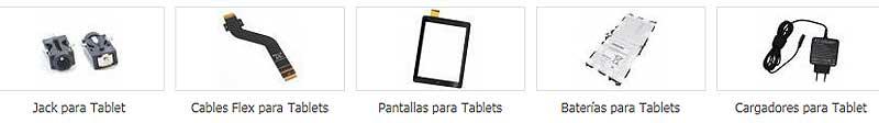 Repuestos para tabletas