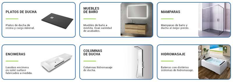 Catálogo productos de baño