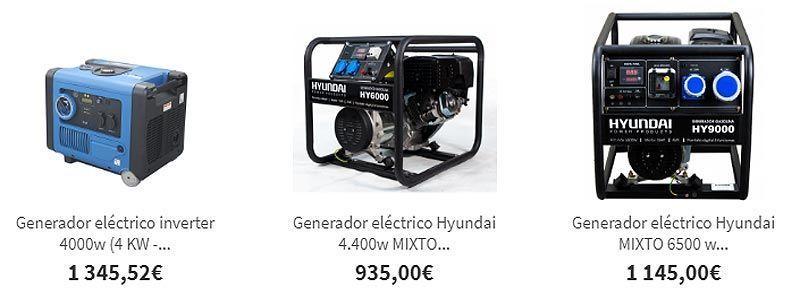 Generadores eléctricos de gas