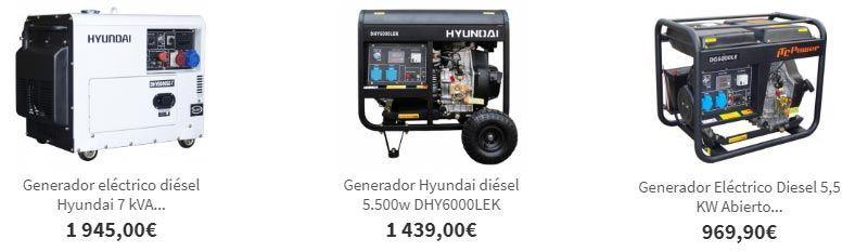 Generadores eléctricos de gasoil
