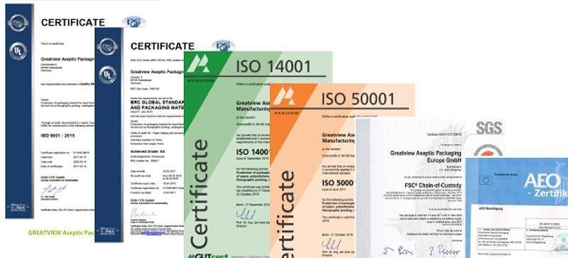 Tipos de certificados de calidad