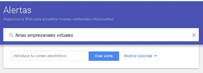 Buscar trabajo en Google Alerts