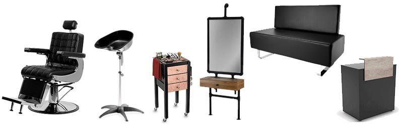 Mobiliario para barbería minimalista
