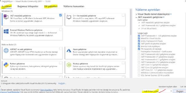 resim 21 - Visual Studio 2017 Ücretsiz Tam Sürüm Kullanma