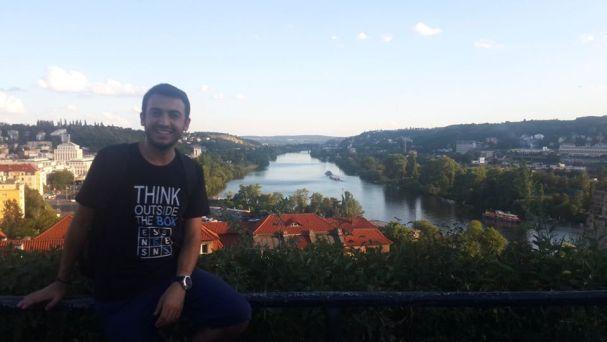 Emre Danisan in Prague, Czech Republic in 2016