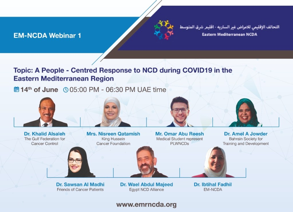 webinar 1- People -Centred Response for NCD During COVID-19 Pandemic in EMR